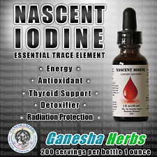NASCENT IODINE 2250mcg per serving 200 servings per bottle 1 oz. NEW FORMULA!