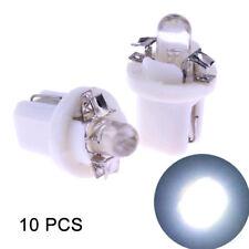 10x T5 B8.5D 5050 SMD LED Tube Auto Car Instrument Dashboard Light Bulbs White