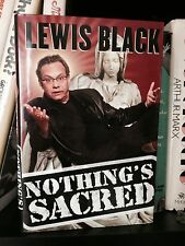 Lewis Black Signed Book Nothing's Sacred The Daily Show