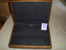 Vtg Pacific Flatware Silverware Or Cutlery Wood Storage Box Chest Service For 12