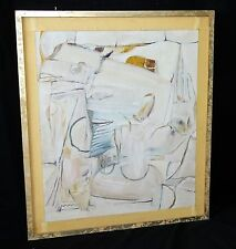 """1983 Egyptian Abstract Oil Painting """"Luxor"""" by Mounir Canaan (1919-1999) (Stea)"""