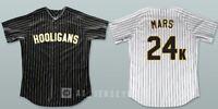 Bruno Mars 24K Hooligans Baseball Jersey Stitched Black White