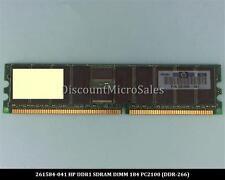 HP 261584-041 DDR 512MB PC-2100 Reg ECC 266Mhz RAM Memory