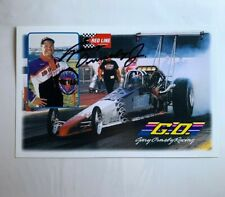Gary Ormsby Jr Signed Autographed Redline Oil Dragster NHRA Photo Card N 589