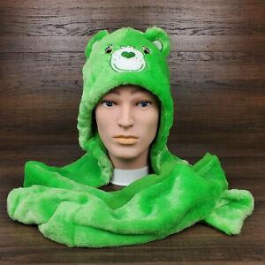Lucky Bear Care Bears Vegan Fur Hood Halloween Costume 2021 Cap Hat New Unworn