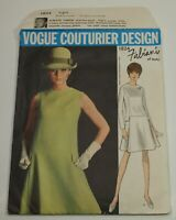 Vintage Vogue Couturier Dress Pattern 1824 FABIANI of Italy Sz 12 Cut & Complete
