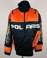 Pure Polaris Racing PRO X Snowmobile Jacket Men's Size L Embroidered Half-Zip