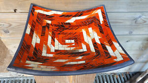 26cm glas Mosaik Obst Deko Schale Teller Terracotta alter Preis 34,-