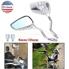 Universal Motorcycle Mirror Scooter Side Rear Rearview Mirrors 8mm 10mm Chrome(Fits: Mastiff)
