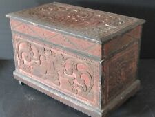 Antique Bali, Rare Box Wooden Carved Indonesia