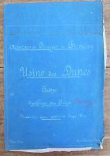 ANCIEN PLAN FORGES DE FIRMINY USINE DES DUNES 1927 MATRICE POUR ESSIEUX TYPE 21
