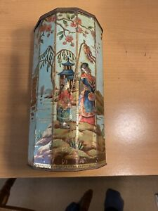 Old Collectable Tin Victory V  Japanese Decoration
