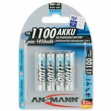 4x Ansmann AAA Micro Akku HR03 1,2V 1050mAh NiMH Schnellladung,Kameras, TV
