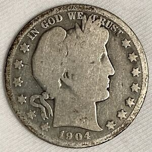 1904-S Barber Half Dollar Silver Coin ~ KEY DATE SPECIAL (L473)