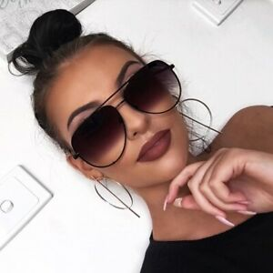 Retro OVERSIZED Women Sunglasses Vintage Flat Top Square Shadz Glasses Key Hot