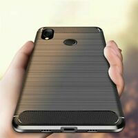 For Xiaomi Redmi 7A Note 7 6 5 Pro Shockproof Carbon Fiber Soft TPU Case Cover