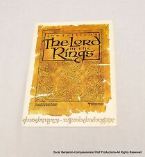 The Lord of the Rings! Original Fold-Out Poster! 1978! Extremely Rare!