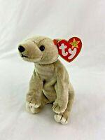 Ty Beanie Baby Almond Bear Plush 1999