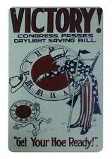 VINTAGE AMERICA PROPAGANDA USA DAYLIGHT SAVING BILL VICTORY.JPEG POSTER LV4652