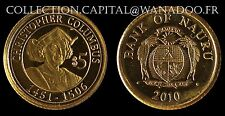 Nauru 5$ 2010 Christopher Columbus 1451/1506 Or 999°/00, avec certificat