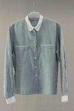 chemise chemisier cacharel vintage t 40/42 rayee verte et blanche coton