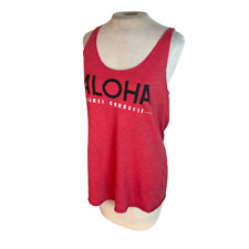 Aloha Kihei Maui Crossfit Womens Racerback Tank Top Pink Red L Large