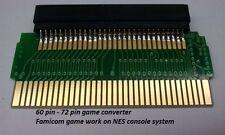 Adaptor Converter Famicom 60 pin to 72 pin NES Console Nintendo regional free
