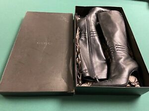 Gucci Knee High Black leather Boots