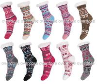 New Ladies 4.7 Tog Thermal Fleece Socks Sherpa Lining Lounge Slipper Bed Socks