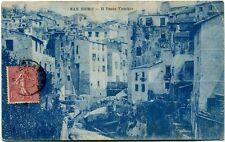 1906 San Remo Il Ponte Vecchio Case Tetti Città Repubblica Italiana FP B/N VG