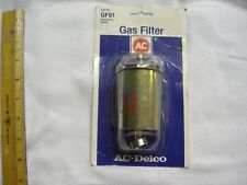 NOS AC GM GF 61 Fuel,Gas Filter Gold Chevrolet Corvette Lotus Plymouth Chrysler