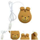 1pc Adorable  Bear Wired Mouse USB for Laptop  Computer  Notebook