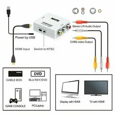 HDMI To AV Adapter Converter Cable CVBS 3RCA 1080P Composite Video Audio White