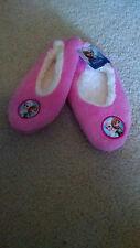 Disney Frozen Girls Elsa & Anna Fuzzy Babba Slipper Socks Sz M/L Shoe Sz 13-4