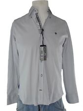 fb class camicia uomo grigio stretch made italy taglia l / xl extra large