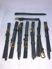 Gray Lizard Calf Leather Watch Bands #428 Lot Of 8 Jb Champion 5/16 8mm Reg