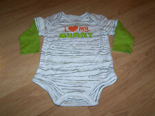 Size 6-9 Months I Love My Mummy One Piece Shirt Halloween Creeper White Green