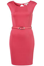 New TOPSHOP neon belted dress by Rare UK 10 in Pink