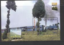 Gambia STEAM TRAINS/Locomotives m/s ref:n11725