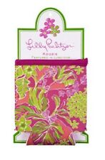 LILLY PULITZER KOOZIE PINK LUSCIOUS Neoprene Can Bottle DRINK HUGGER Cooler  NEW
