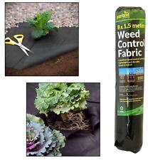 Weed Control Ground Cover Fabric Membrane 8m x 1.5m Suppressant Landscaping