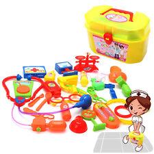Kids Nurse Doctor Pretend Medical Set Case Kit Educational Role Play Toys 1Set