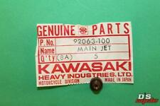 NOS KAWASAKI 1971-87 F6 F8 F9 KX KLT KX80 KLT185 Main Jet #122.5 PART# 92063-100