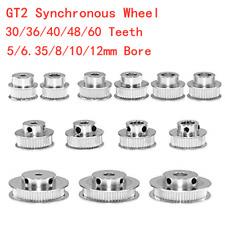 GT2 Synchronous Wheel 30-60 Teeth 5-12mm Bore Timing Pulley 6-10mm Width Belt