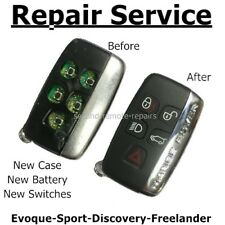 Repair refurbishment service for Range Rover Evoque Sport key fob + new case