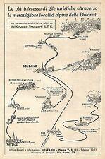W9821 Dolomiti - Ferrovie Elettriche Alpine - Pubblicità del 1934 - Old advert