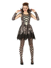 Ladies Womens Gothic Twilight Grey Vampire Fancy Dress Costume Sexy Halloween