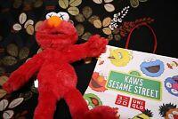 Kaws Sesame Street X UNIQLO Plush Doll Elmo & Limited Paper Bag 100% AUTHENTIC !