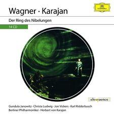 KARAJAN -WAGNER: DER RING DES NIBELUNGEN (ELOQUENCE)  14 CD NEU
