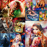 Beauty Animal DIY Paint By Numbers Kit Digital Oil Painting Art Home Wall Decor